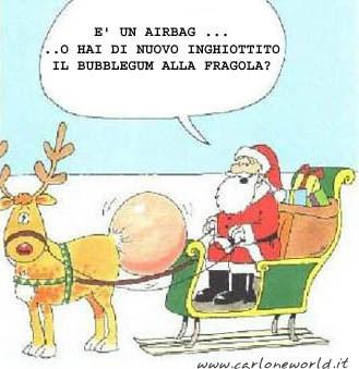 Babbo Natale con renna e bubblegum