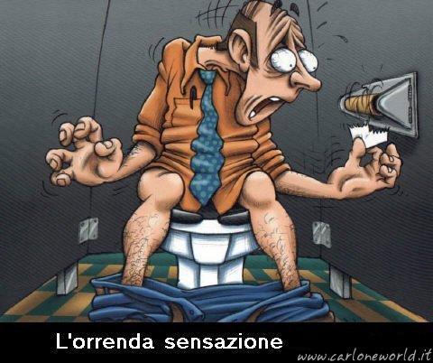 Vignetta divertente: orrenda sensazione