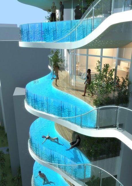 palazzo con piscine