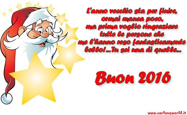 Top Buon 2018: Babbo Natale con frase di Auguri buon 2016 AS92