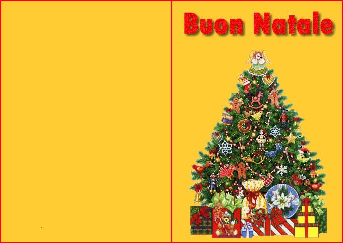 Bel biglietto di Natale con bellissimo Albero di Natale