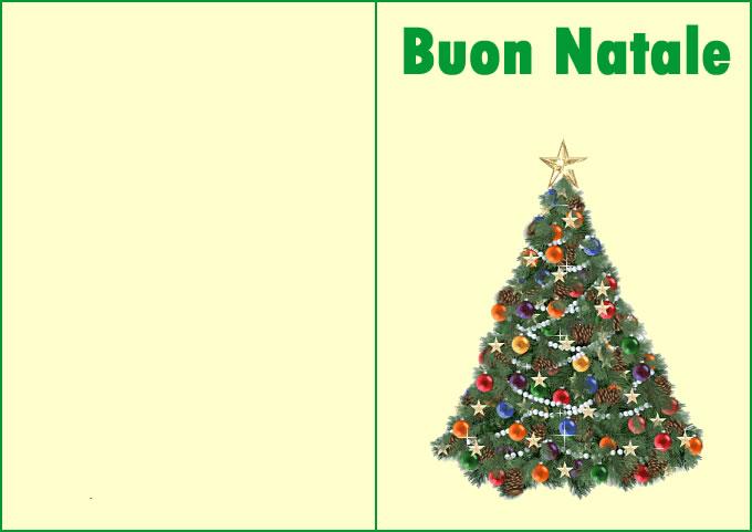 Bel biglietto di Natale con bellissimo Albero di Natale addobbato