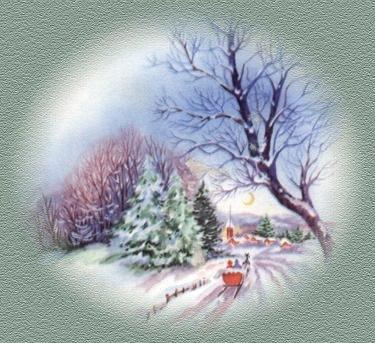 Immagine di natale paesaggio natalizio for Immagini cartoline di natale