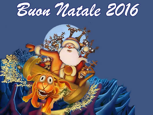 Immagine di Natale: Immagine Natale 2016 Babbo Natale con slitta