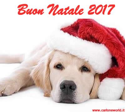 Buon Natale 2017 con tenero cane