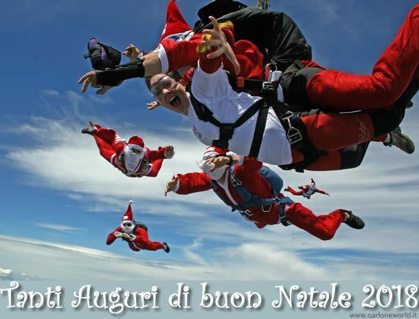 Auguri di buon Natale 2018 da Babbo Natale adrenalinico