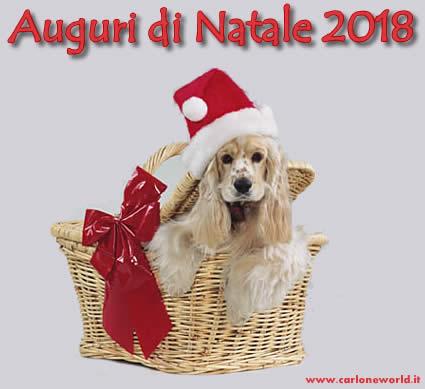 Auguri di Natale 2018 con dolce cagnolino