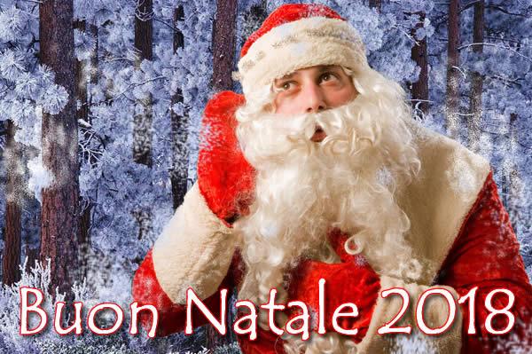 Bella immagine Auguri buon Natale 2018 con babbo Natale