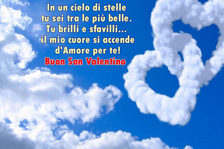 Buon San Valentino in un magico cielo