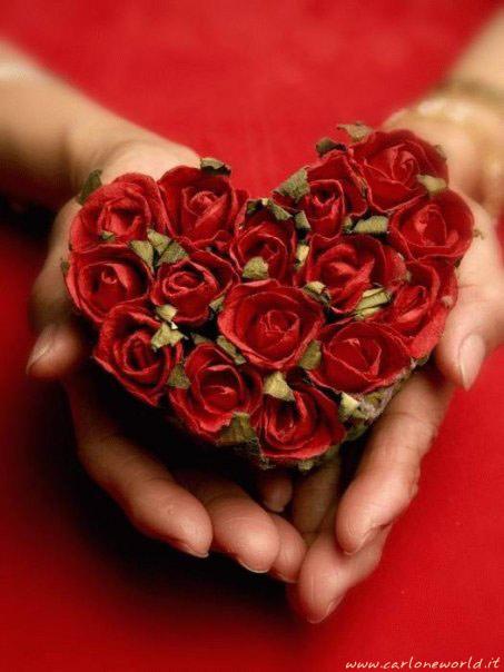 Cuore di rose rosse per Te