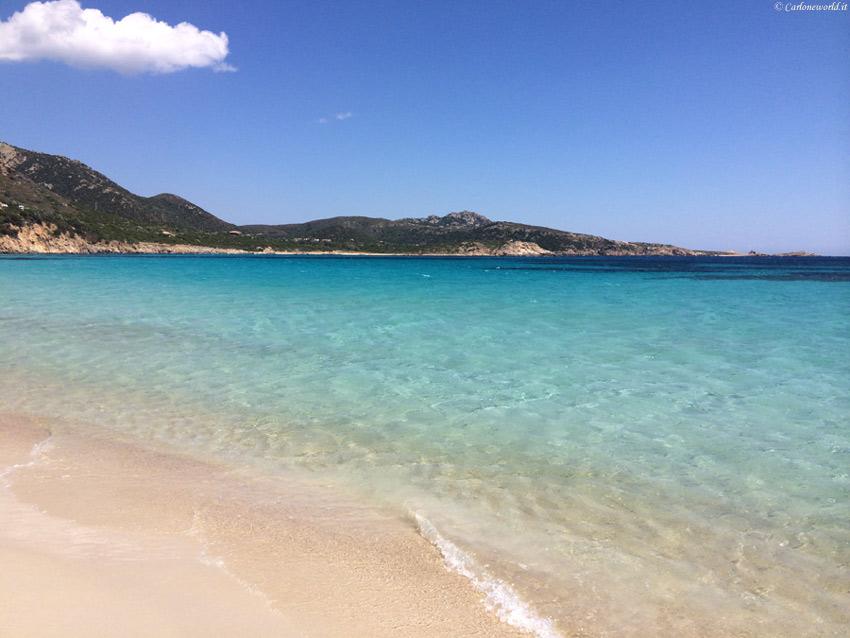 Bellissima foto della spiaggia di Teulada (CA), Sardegna