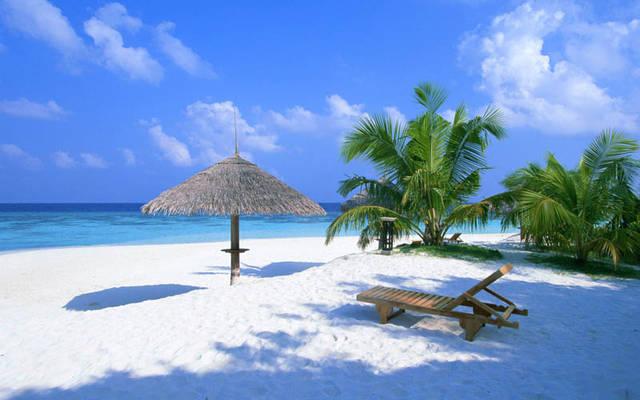 Spiaggia bellissima Maldive