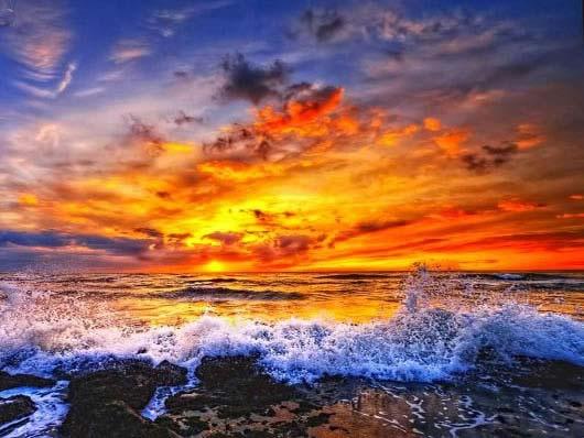 Tramonto tra le onde