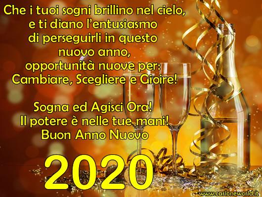 Immagine Buon Anno Buon 2020 Con Frase Di Auguri