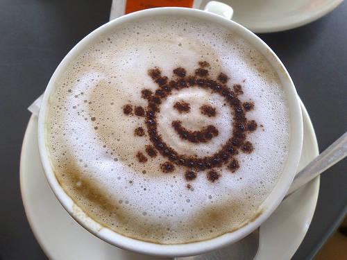 Foto bella e divertente: Cappuccino con Sole