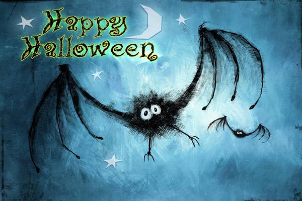 Immagine Halloween: Happy Halloween pipistrello