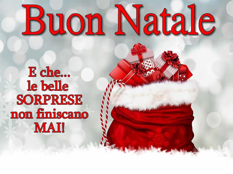 Frasi Per Auguri Di Buon Natale.Immagine Di Natale Sacco Pieno Di Doni Di Natale E Frase Di