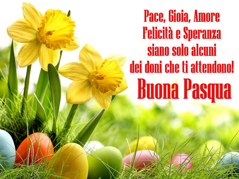 Bellissima Immagine Con Frase Auguri Pasqua