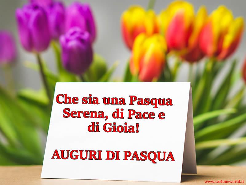 Immagine Auguri Pasquali - Immagine di Pasqua con frase