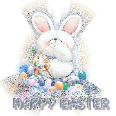Sfondo Pasqua con coniglio pasquale