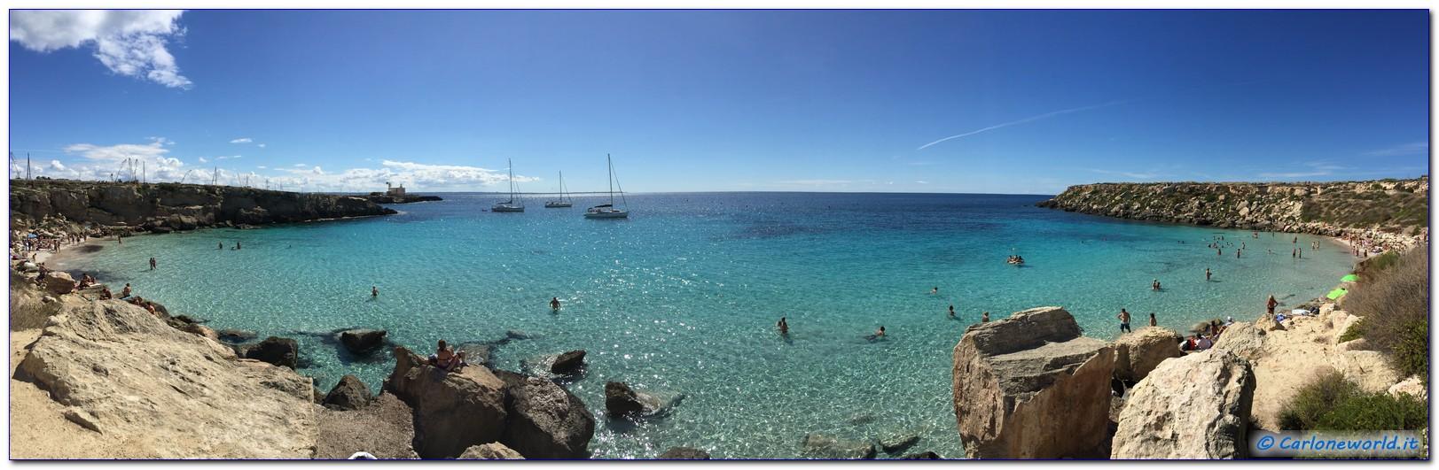 Panoramica Cala Azzurra Favignana