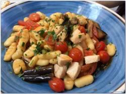 Pasta Melanzane Pesce Spada e pomodorini